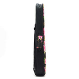 CLOUDMUSIC Hawaiian Floral Ukulele Case Hawaii Hibiscus and Palm (black)