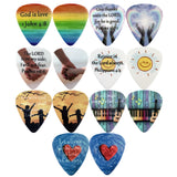 CLOUDMUSIC Bible Verse Guitar Picks Ukulele Picks
