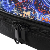 CLOUDMUSIC National Hawaiian Ukulele Bag Ukulele Case (Bohemian Dark Blue)