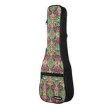 CLOUDMUSIC National Hawaiian Ukulele Bag Ukulele Case (Bohemian Green)