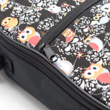 CLOUDMUSIC Colorful Cool Owls Hawaiian Ukulele Case Ukulele Backpack ( Blue Yellow Owl)