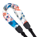 CLOUDMUSIC Colorful Hawaiian Jacquard Woven J Hook Clip On Ukulele Strap Ukulele Belt For Soprano Concert Tenor Ukulele (Hula Girls Aloha)