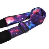 CLOUDMUSIC Guitar Strap Polyester Printing Blue Red Purple Guitar Strap For Kids Guitar Acoustic Guitar Bass Electric