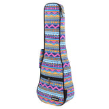CLOUDMUSIC Hawaiian Ukulele Case Blue Rainbow Backpack 10mm Padded Bag For Concert