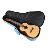 CLOUDMUSIC Ukulele Case 10mm Padded Ukulele Backpack Case Soprano Concert Tenor Ukulele Case Black Blue Grey (Blue)