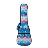 CloudMusic Top Quality Concert Ukulele Bag 2016 Fashion Gig Bag Adjustable Straps Blue Wave