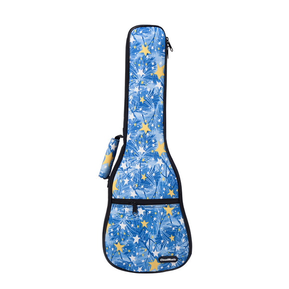 CloudMusic Top Quality Soprano Ukulele Bag 2016 Fashion Gig Bag Adjustable Straps Stars Blue