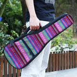 CLOUDMUSIC National Hawaiian Bohemian Ukulele Case Ukulele Bag Backpack Purple