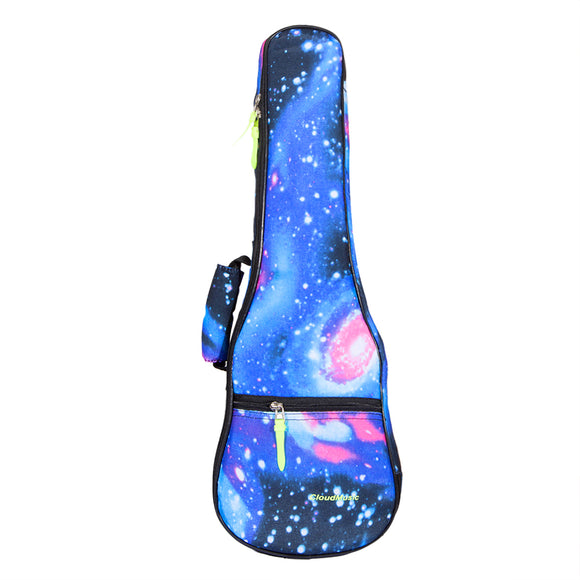 CLOUDMUSIC Starry Cotton Ukulele Bag Blue Fashion Gig Bag Adjustable Straps