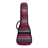 CLOUDMUSIC National Hawaiian Bohemian Ukulele Case Ukulele Bag Backpack (Red)