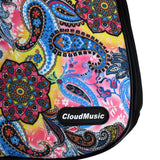 CloudMusic® Top Quality Concert Ukulele Bag 2016 Fashion Colourful Gig Bag Adjustable Straps Paisley Pattern