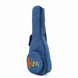 CloudMusic Hawaiian Ukulele Bag Ukulele Case With 3D Bag (Blue Musical)