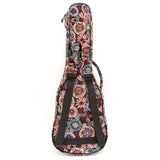 CLOUDMUSIC Ethnice Ukulele Case Ukulele Bag Padded Ukulele Backpack Bag With Adjust Strap ( Style 36)