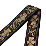 CLOUDMUSIC Guitar Strap Jacquard Weave Strap With Leather Ends Vintage Classical Pattern Design Picks Free (Vintage Classical Pattern Design 32)