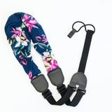 CLOUDMUSIC Colorful Hawaiian Jacquard Woven J Hook Clip On Ukulele Strap Ukulele Belt For Soprano Concert Tenor Ukulele (Scarf Style 4)