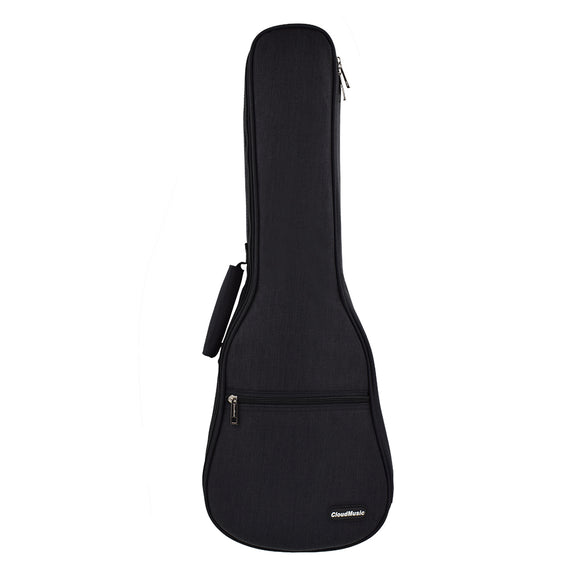 CLOUDMUSIC Ukulele Case 10mm Padded Ukulele Backpack Case Soprano Concert Tenor Ukulele Case Black Blue Grey (Black)