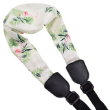 CLOUDMUSIC Ukulele Strap No Drilling Ukulele Strap J Hook Ukulele Clip On Ukulele Strap For Soprano Concert Tenor Baritone (Scarf Flamingo)