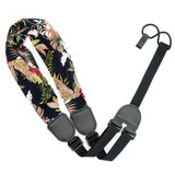 CLOUDMUSIC Colorful Hawaiian Jacquard Woven J Hook Clip On Ukulele Strap Ukulele Belt For Soprano Concert Tenor Ukulele (Scarf Style 5)