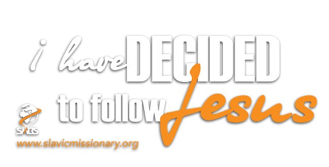 """I have decided"" Car Decal"