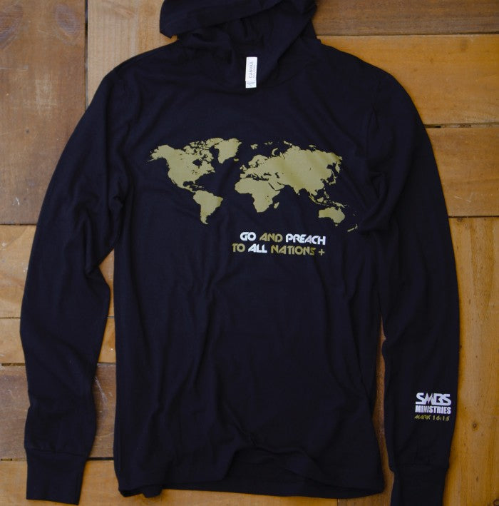 World Map Sweater.World Map Hoodie Gold Smbs Ministries