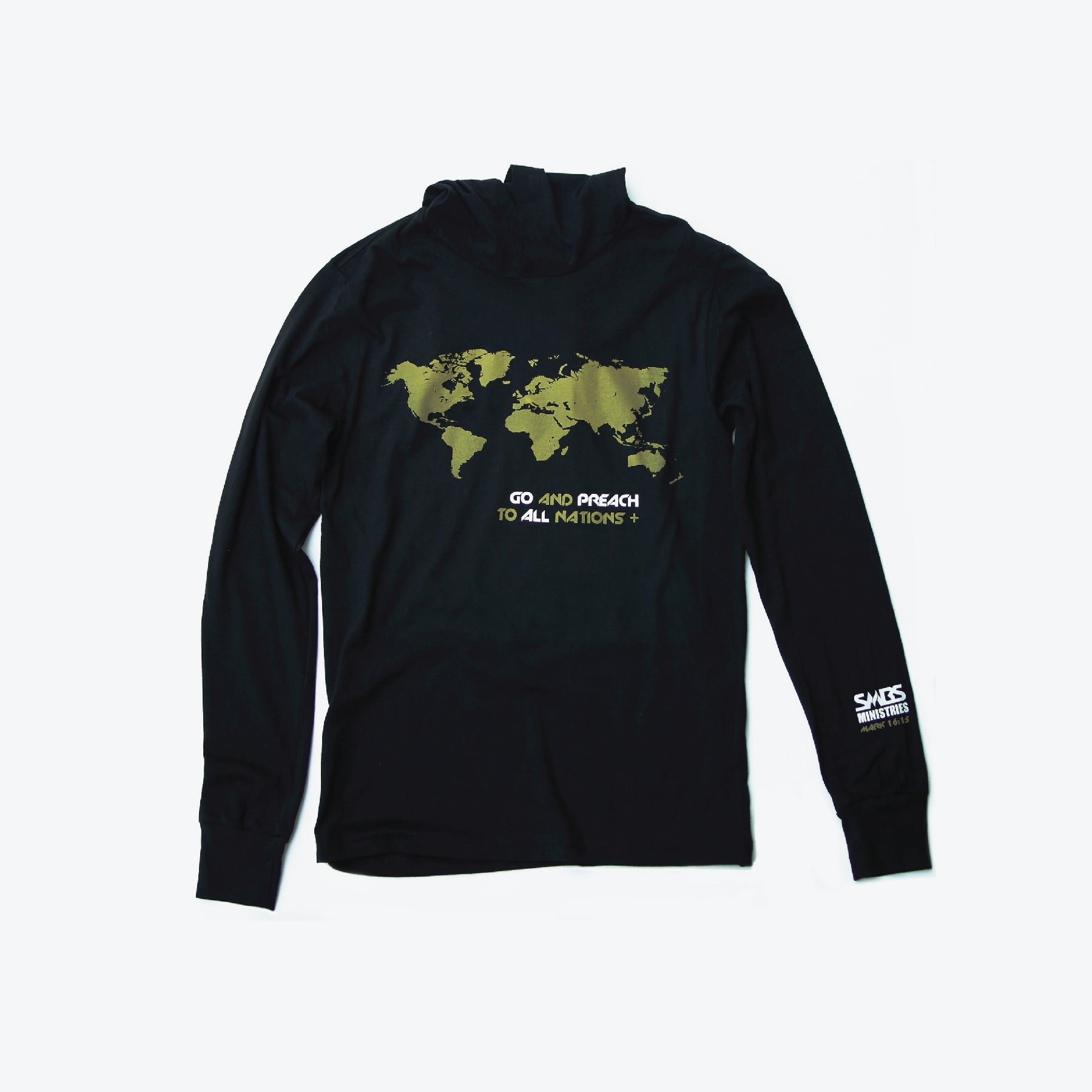 World map hoodie gold smbs ministries world map hoodie gold gumiabroncs Image collections