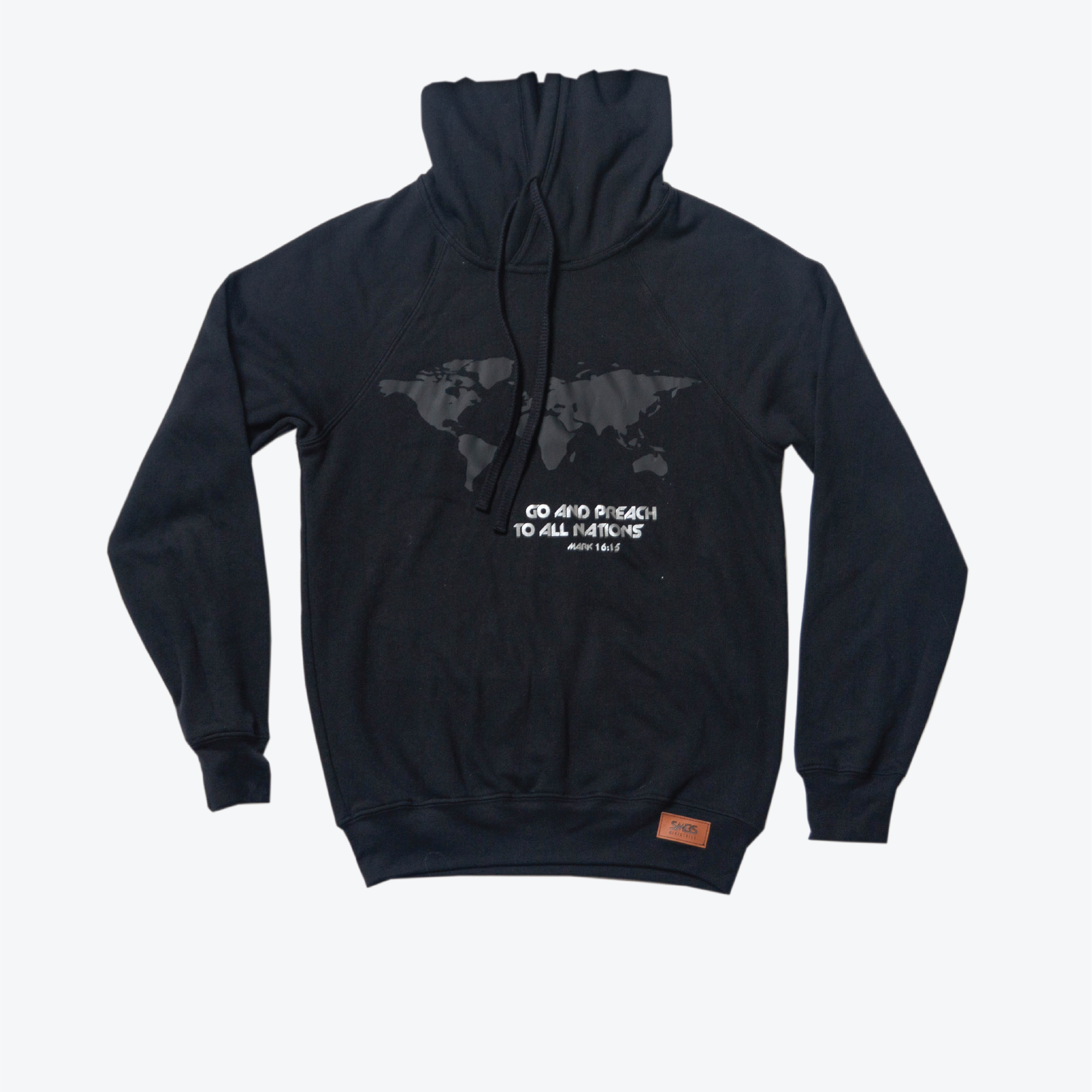 World Map-Hoodie Black