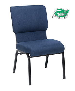Jubilee Chair in Indigo with Satin Black Frame