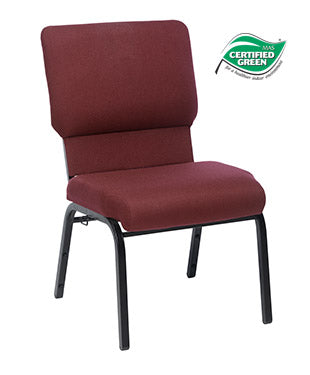 Jubilee Chair in Maroon with Satin Black Frame