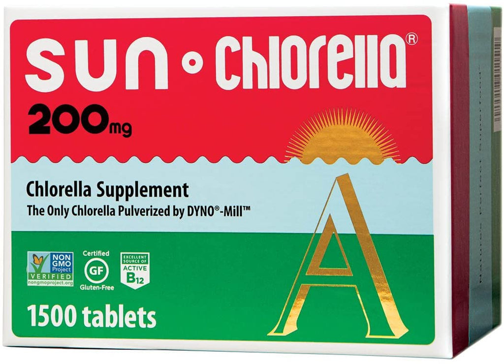 Sun Chlorella A Tablets - 200 mg - 1500 Tablets High Quality