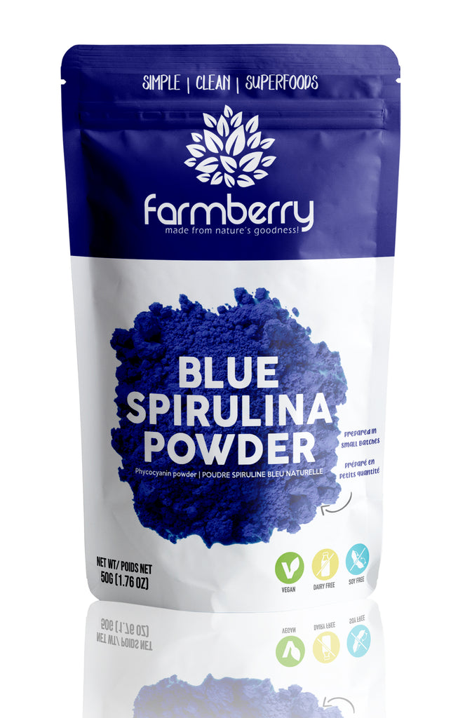 Farmberry 100% Natural Blue Spirulina (Phycocyanin) Powder 50g