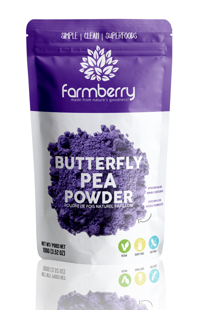 Farmberry 100% Natural Butterfly Pea Powder 100g