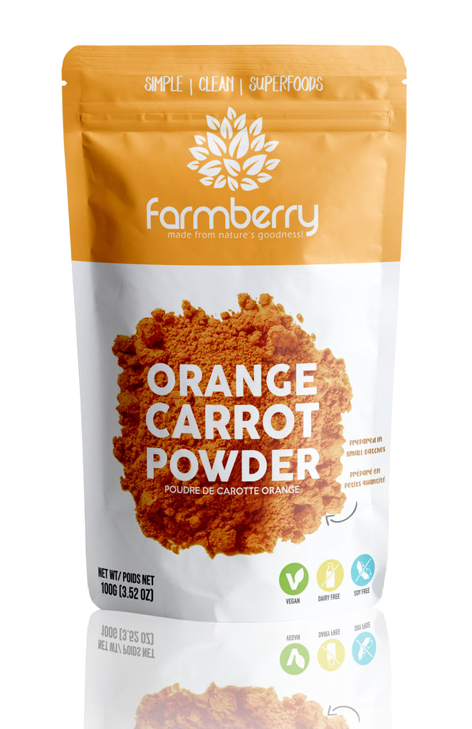 Farmberry 100% Orange Carrot Powder 100g