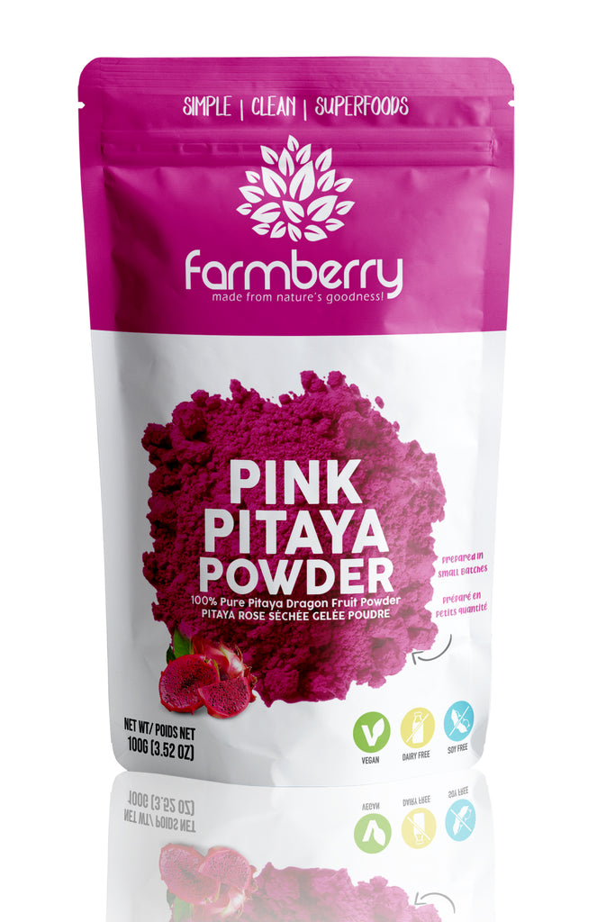 Farmberry 100% Premium Pink Pitaya (Dragon Fruit) Powder 100g