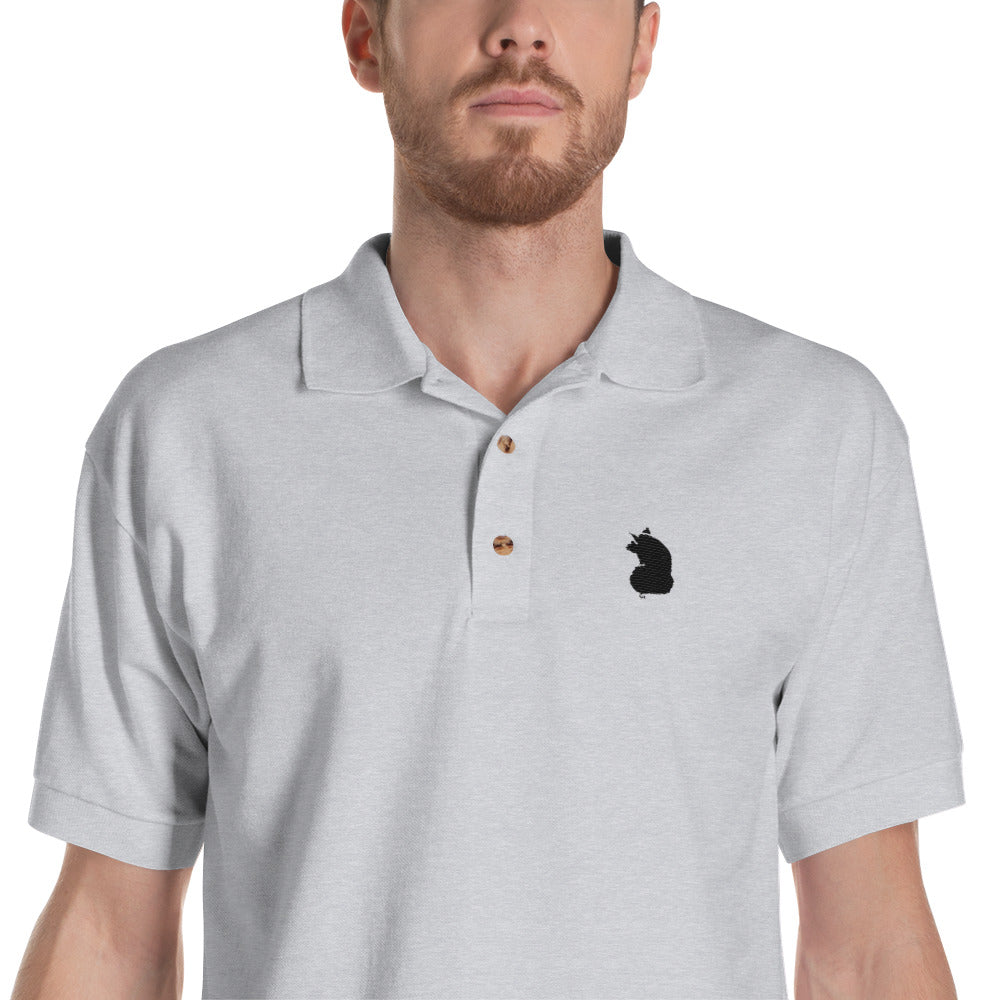Embroidered Pig Logo Polo Shirt