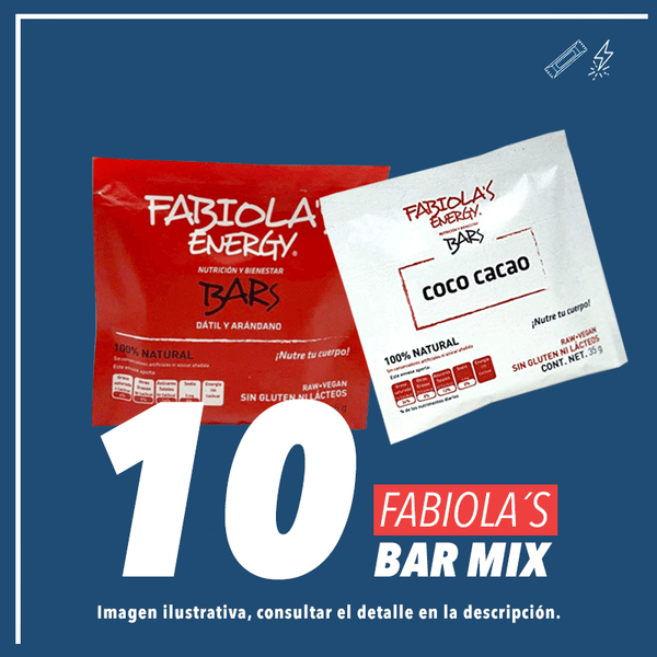 Fabiola's Energy Bar Mix c/10 pz