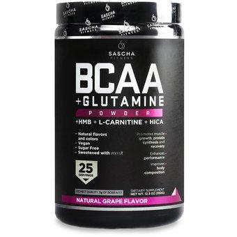 Sascha Fitness BCAA + Glutamine Powder 350gr Grape