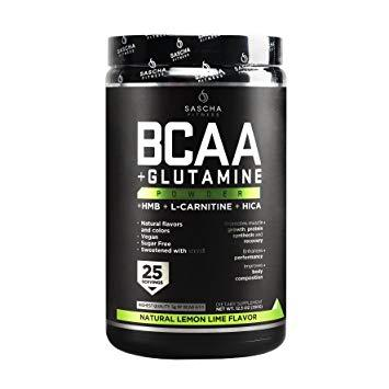 Sascha Fitness BCAA + Glutamine Powder 350gr Lemon Lime
