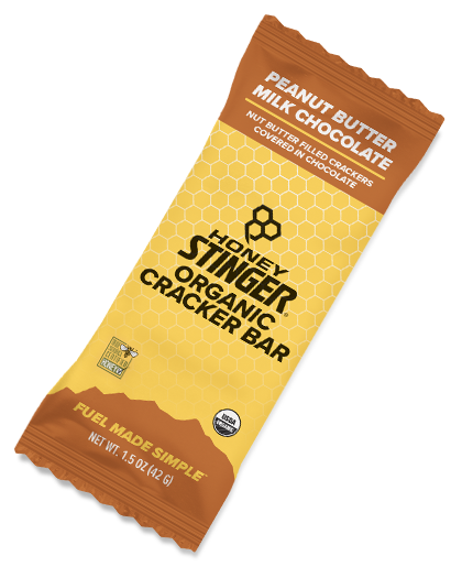 Honey Stinger Cracker n Nut Butter Snack Bar Peanut Butter Milk Chocolate 42gr c/144 pz