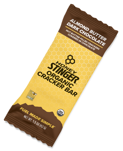 Honey Stinger Cracker n Nut Butter Snack Bar Almond Butter Dark Chocolate 42gr