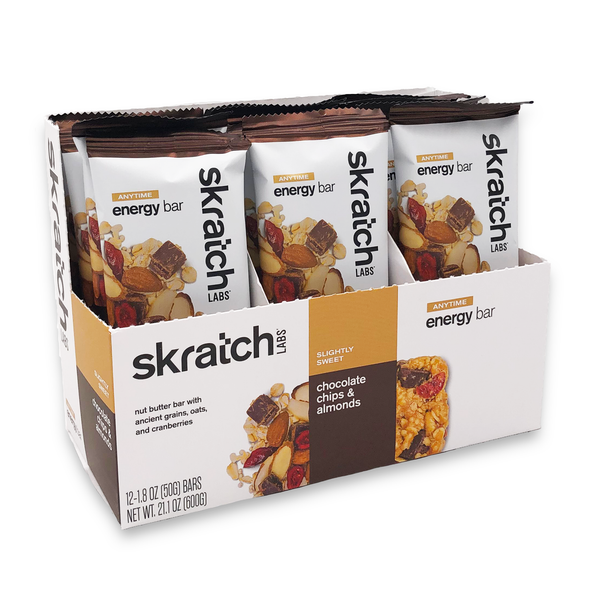 Skratch Labs Energy Bar - Chocolate Chips & Almonds 50gr c/12pz