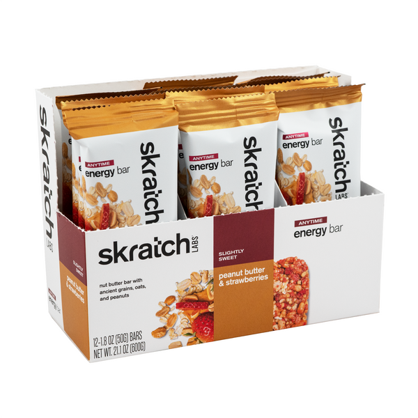 Skratch Labs Energy Bar - Peanut Butter & Strawberries 50gr c/12pz
