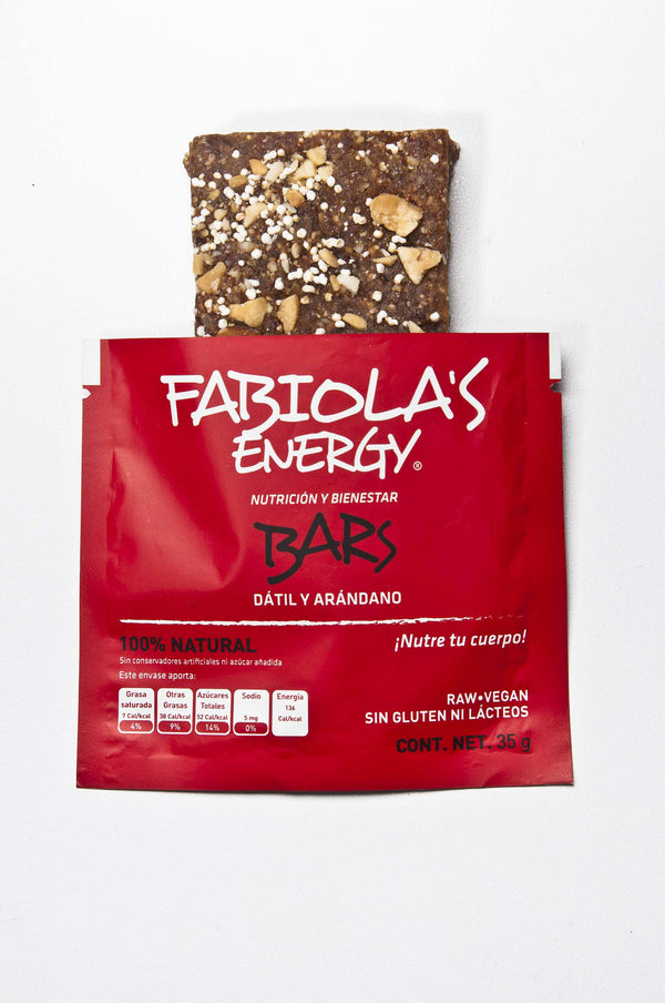 Fabiola's Energy Bar Dátil y Arandano 35gr