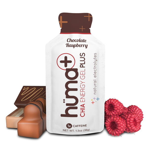 Huma Plus Chia Energy Gel Chocolate Raspberry 36gr c/96 pz
