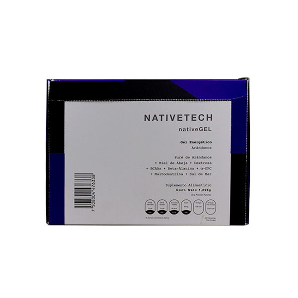 Nativetech Gel Arandanos 54gr c/24 pz