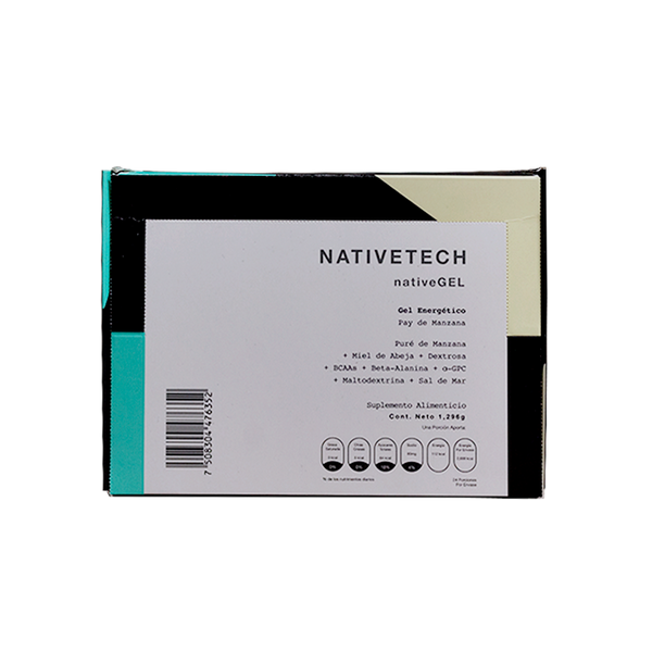 Nativetech Gel Pay de Manzana 54gr c/24 pz