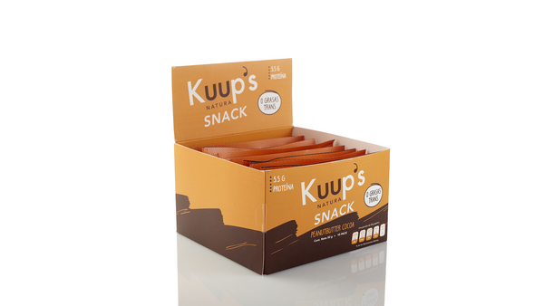 Kuup´s Barra Snack Peanut Butter Cocoa 50gr c/10pz