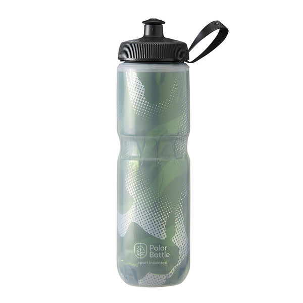 Polar Bottle Sport Insulated Contender 24oz Olive/Silver