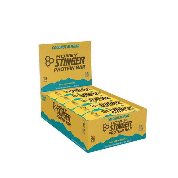 Honey Stinger 10gr Protein Bar Dark Chocolate Coconut Almond 42gr c/15pz