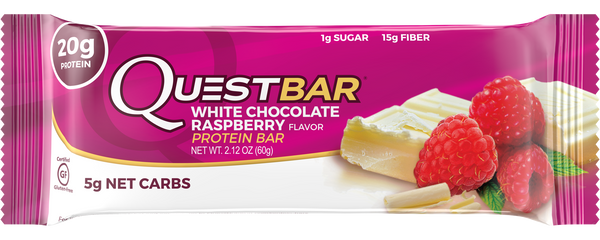 Quest Nutrition Protein Bar White Chocolate Raspberry 60gr