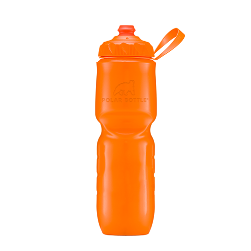Polar Bottle Zip Stream 24oz Insulated Bottle Tangerine
